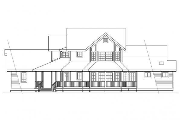 Traditional House Plan - Heartstone 10-200 - Right Elevation
