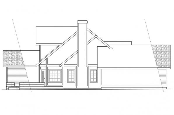 Traditional House Plan - Heartland 10-060 - Left Elevation
