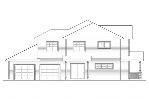 Traditional House Plan - Hendrick 60-034 - Left Elevation