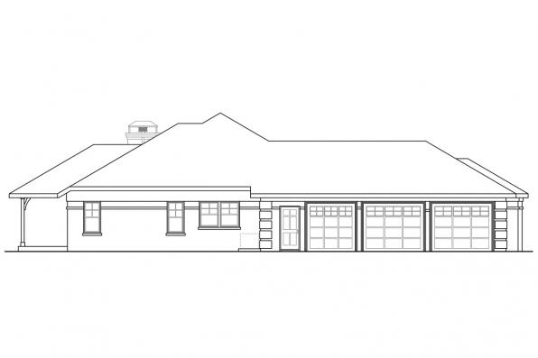 Traditional House Plan - Hills Creek 10-573 - Left Elevation