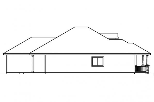 Traditional House Plan - Holbrook 30-190 - Left Elevation