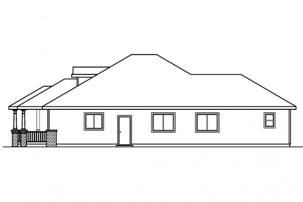 Traditional House Plan - Holbrook 30-190 - Right Elevation