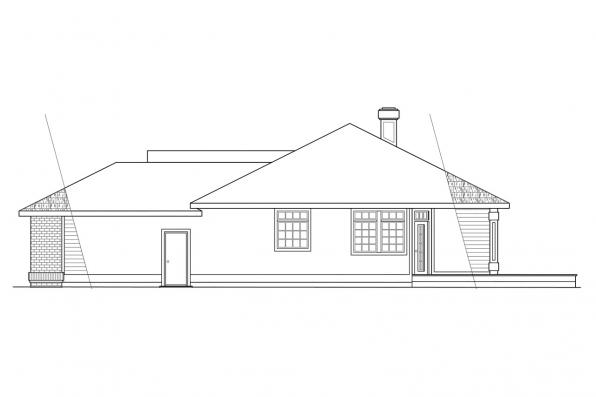 Traditional House Plan - Jamison 10-081 - Right Elevation