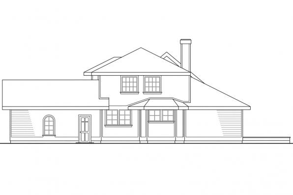 Traditional House Plan - Jasmine 10-001 - Right Elevation