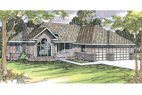 Traditional House Plan - Jessica 30-049 - Front Elevation