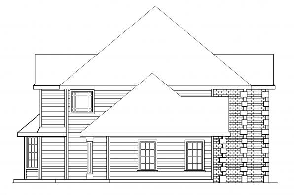 Traditional House Plan - Kersley 30-041 - Left Elevation