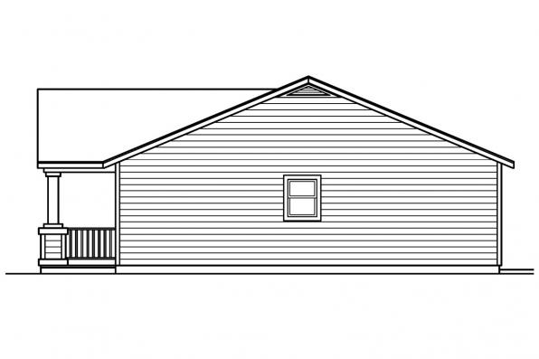 Traditional House Plan - Kettering 30-441 - Right Elevation