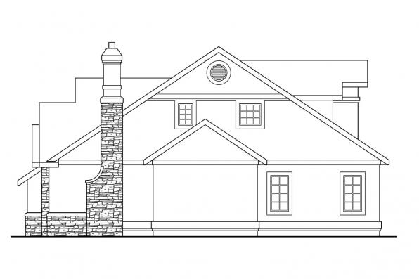Traditional House Plan - Lafayette 10-156 - Right Elevation