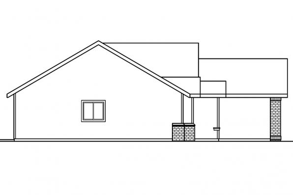 Traditional House Plan - Lamont 30-235 - Left Elevation