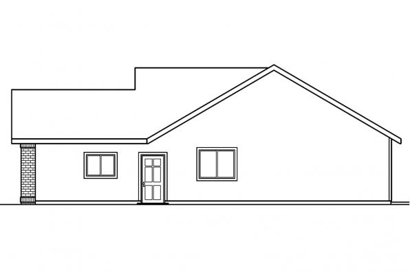 Traditional House Plan - Lamont 30-235 - Right Elevation