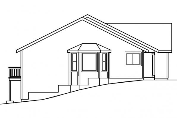 Traditional House Plan - Lander 30-225 - Left Elevation