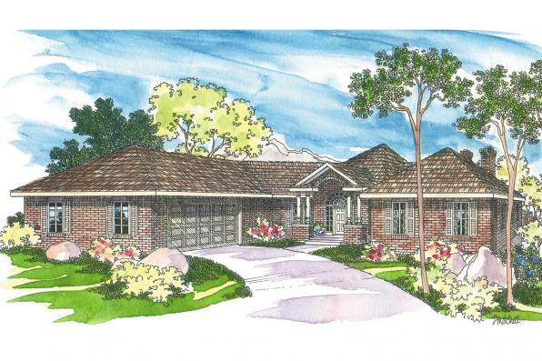 Traditional House Plans - Linfield 10-322 - Associated Designs