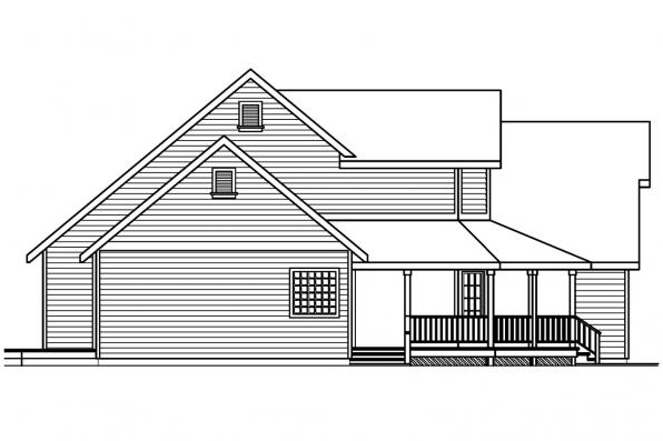 Traditional House Plan - Loveland 30-282 - Left Elevation