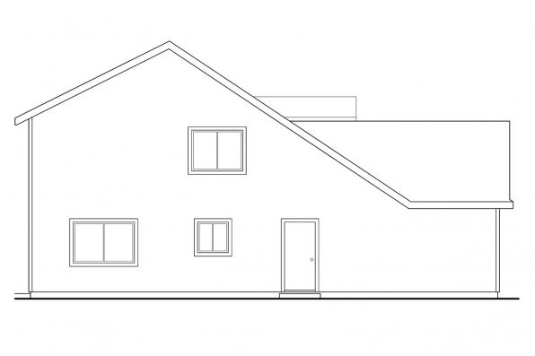 Traditional House Plan - Malta 30-168 - Left Elevation