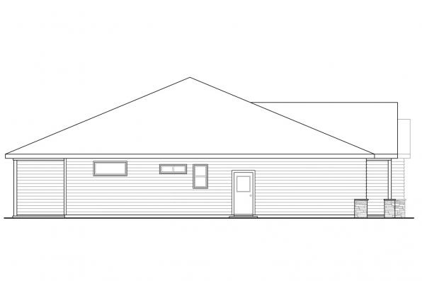 Traditional House Plan - Manzanita 31-073 - Left Elevation