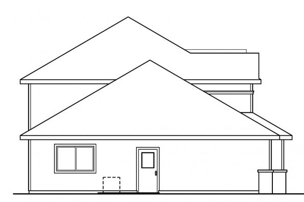 Traditional House Plan - Masterson 30-455 - Left Elevation