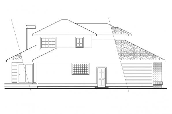 Traditional House Plan - Mayfield 10-095 - Left Elevation