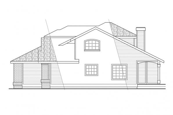Traditional House Plan - Mayfield 10-095 - Right Elevation