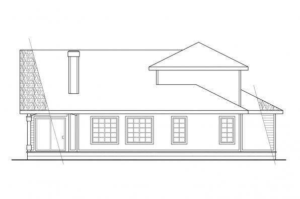 Traditional House Plan - Mayfield 10-095 - Rear Elevation