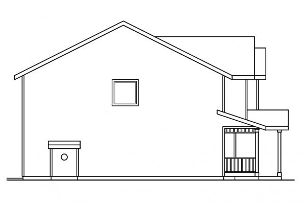 Traditional House Plan - McKinnon 30-420 - Left Elevation