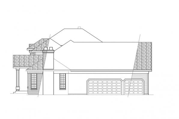 Traditional House Plan - Middleton 30-135 - Right Elevation