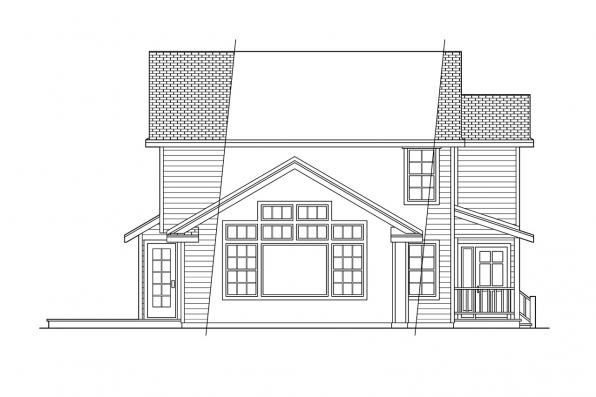 Traditional House Plan - Newberg 10-138 - Left Elevation