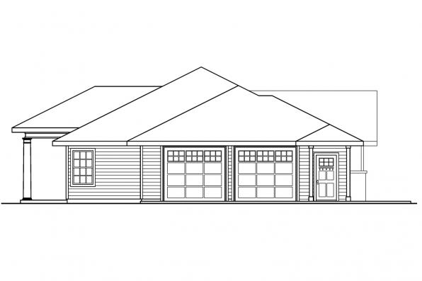 Traditional House Plan - Parkdale 30-684 - Left Elevation