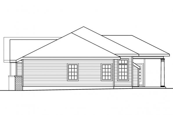 Traditional House Plan - Parkdale 30-684 - Right Elevation