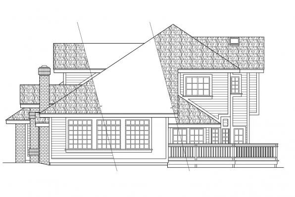 Traditional House Plan - Parker 30-002 - Right Elevation
