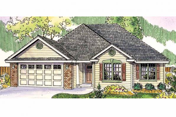 Front Elevation Traditional : Traditional house plans porterville associated