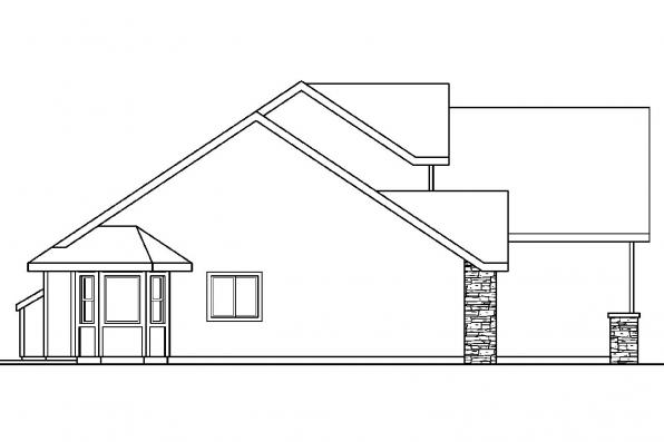 Traditional House Plan - Radbourne 30-562 - Left Elevation