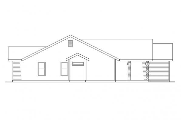 Traditional House Plan - Renton 10-177 - Left Elevation
