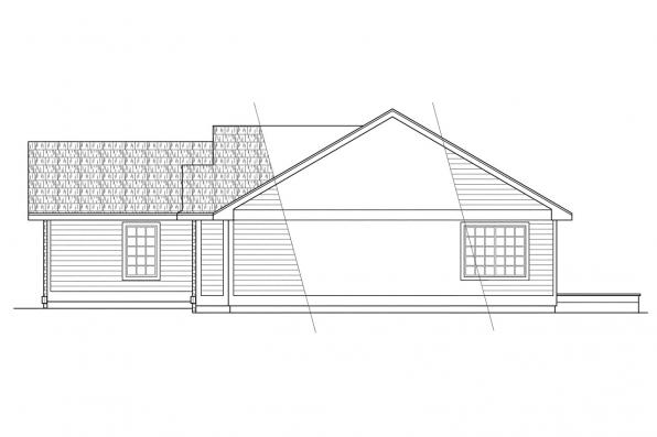 Traditional House Plan - Rexburg 30-068 - Right Elevation