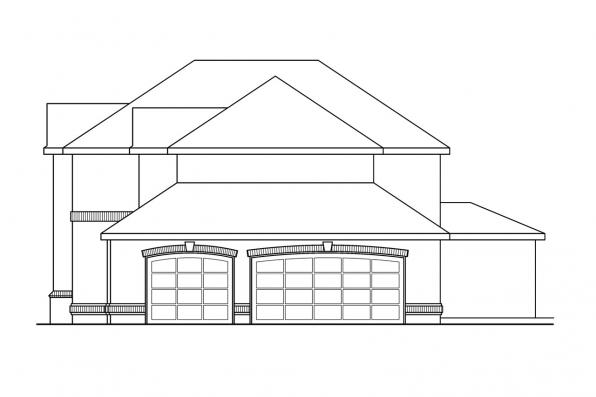 Traditional House Plan - Richfield 10-352 - Right Elevation