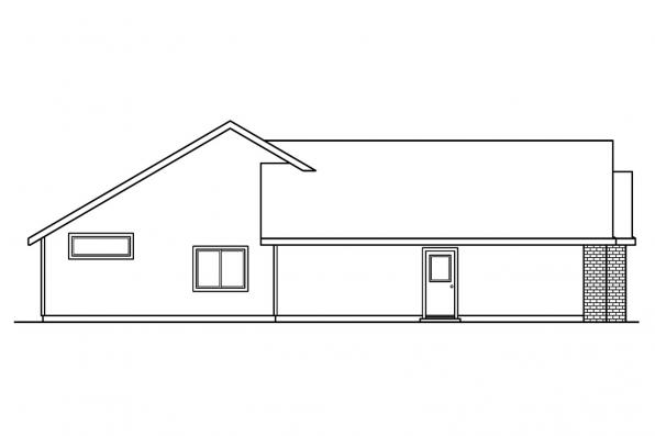 Traditional House Plan - Rollins 30-330 - Left Elevation