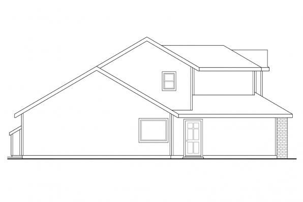 Traditional House Plan - Selkirk 30-119 - Left Elevation