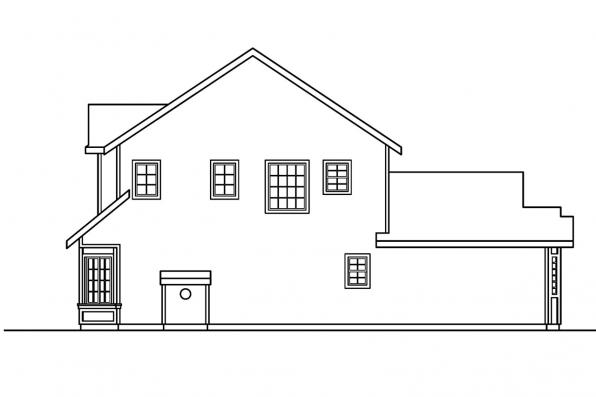 Traditional House Plan - Shaffer 30-453 - Right Elevation