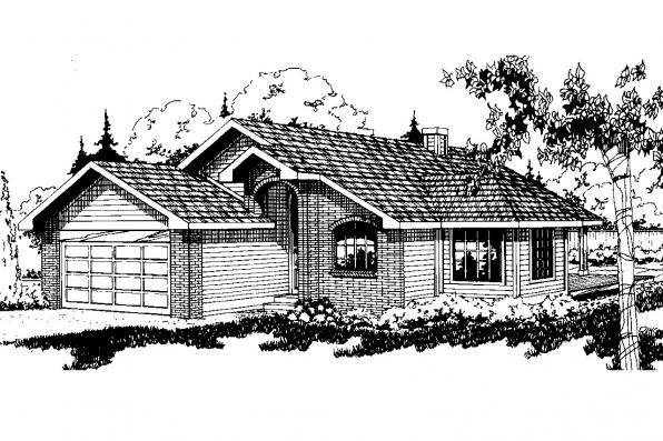 Traditional House Plan - Shelton 10-033 - Front Elevation