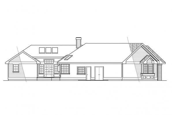 Traditional House Plan - Sheridan 10-042 - Left Elevation