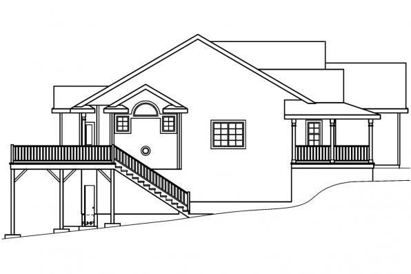 Traditional House Plan - Shreveport 30-231 - Left Elevation
