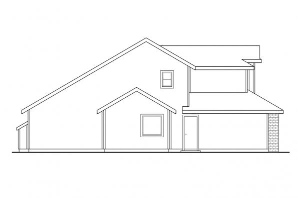 Traditional House Plan - Susanville 30-114 - Left Elevation