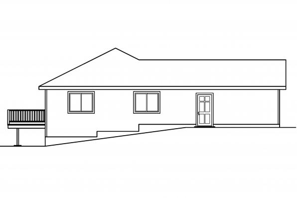 Traditional House Plan - Tyson 30-495 - Left Elevation