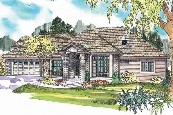 Traditional House Plan - Vicksburg 30-567 - Front Elevation
