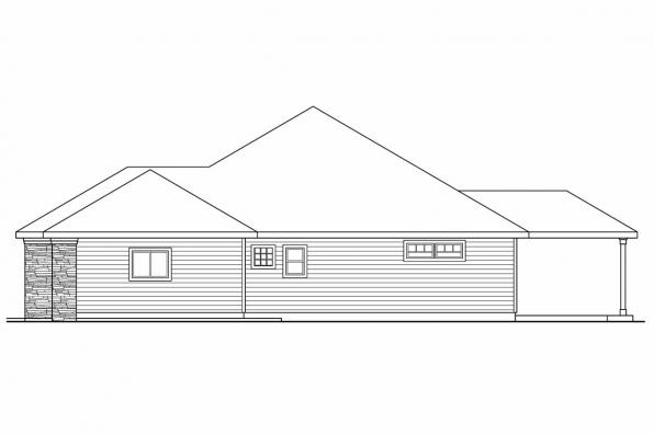Traditional House Plan - Wallowa 30-737 - Right Elevation