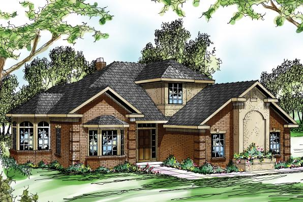Traditional House Plan - Wichita 10-254 - Front Elevation