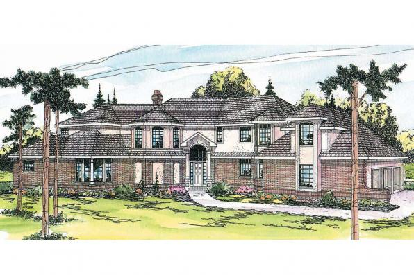Tudor House Plan - Cheshire 10-055 - Front Elevation