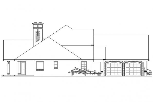 Tudor House Plan - Marcellus 10-301 - Left Elevation