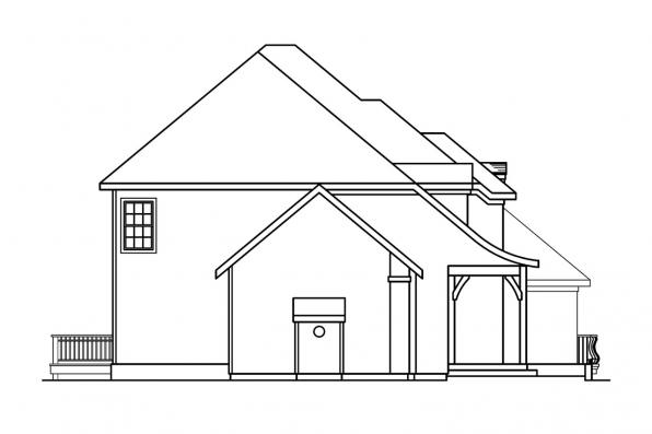Tuscan House Plan - Marseille 30-421 - Left Elevation