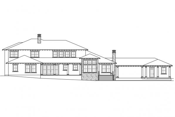Tuscan House Plan - Rossano 30-569 - Rear Elevation