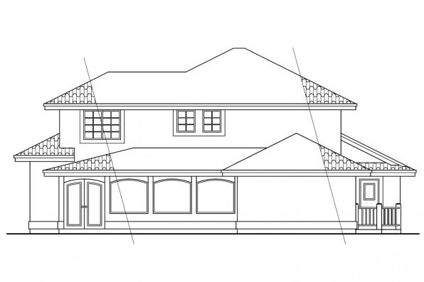 Tuscan House Plan - Sequoia 11-013 - Rear Elevation